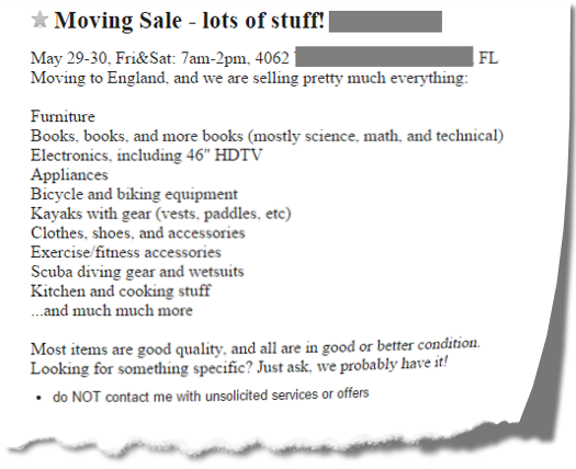 Sourcing Books at Yard Sales and Garage Sales - Book to the