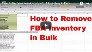 How to Remove FBA Inventory in Bulk